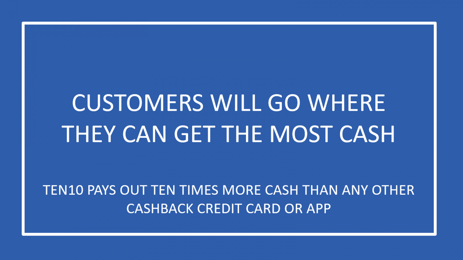 1616 - Ten times more cashback - Ten10